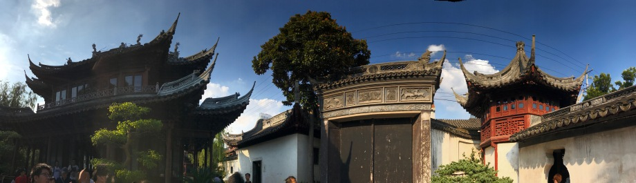panorama of a section inside the Yuyuan Garden