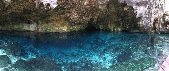 panoramic view of the cenote cave