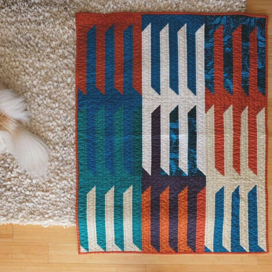 vertebrae quilt by Melissa Herboth